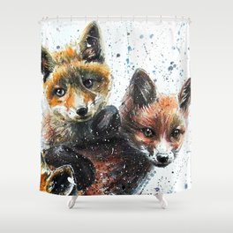 Nice Chap Foxes Shower Curtain