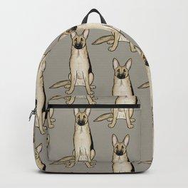Light Tan and Black German Shepherd Backpack