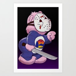 Jason Scare Bear Art Print