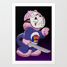 Jason Scare Bear Art Print