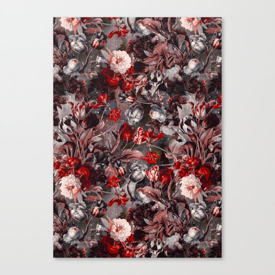 New Year's flowering night Canvas Print