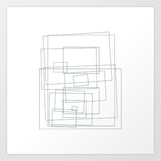 #453 The rec-tangle – Geometry Daily Art Print