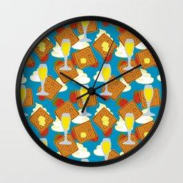 berries waffles and mimosas Wall Clock