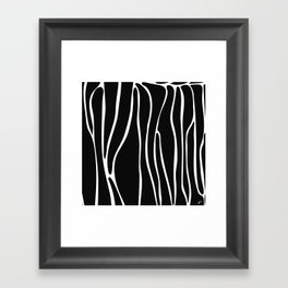 Z Line Framed Art Print