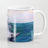 england Mugs featuring New England by Samantha Crepeau