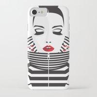 striped iPhone & iPod Cases featuring striped by Yordanka Poleganova