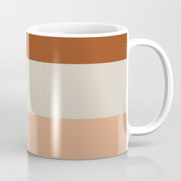 Minimalist Color Block Triple Stripe in Apricot, Rust Clay, and Putty Coffee Mug