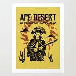 Ape desert Art Print