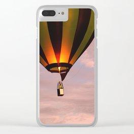 Hot air balloon rising Clear iPhone Case
