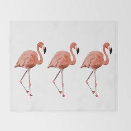A Flamboyance of Flamingoes - Flamenco - 57 Montgomery Ave Throw Blanket