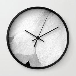 Flower | Flowers | White Petals | Macro Nature Wall Clock