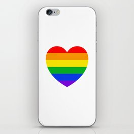 Rainbow Heart iPhone Skin
