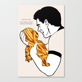 French Fry Baby Canvas Print