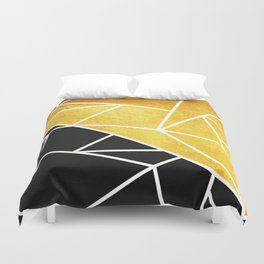 Coal and Gold Duvet Cover