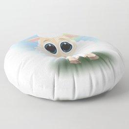 White Sheep Floor Pillow