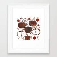 oana befort Framed Art Prints featuring NOT GRANNY'S APPLES by Oana Befort