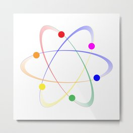 LGBT Whirling Atoms Metal Print