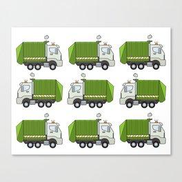 Garbage Truck Canvas Print