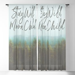 Stay Wild Moon Child Sheer Curtain