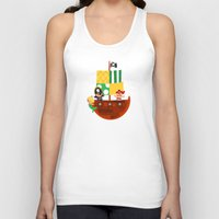 pirate ship Tank Tops featuring pirate ship by Alapapaju