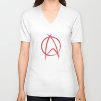 anarchy V-neck T-shirts featuring Federation Anarchy by The Cracked Dispensary