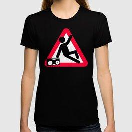 Caution: Breaking hazard T-shirt