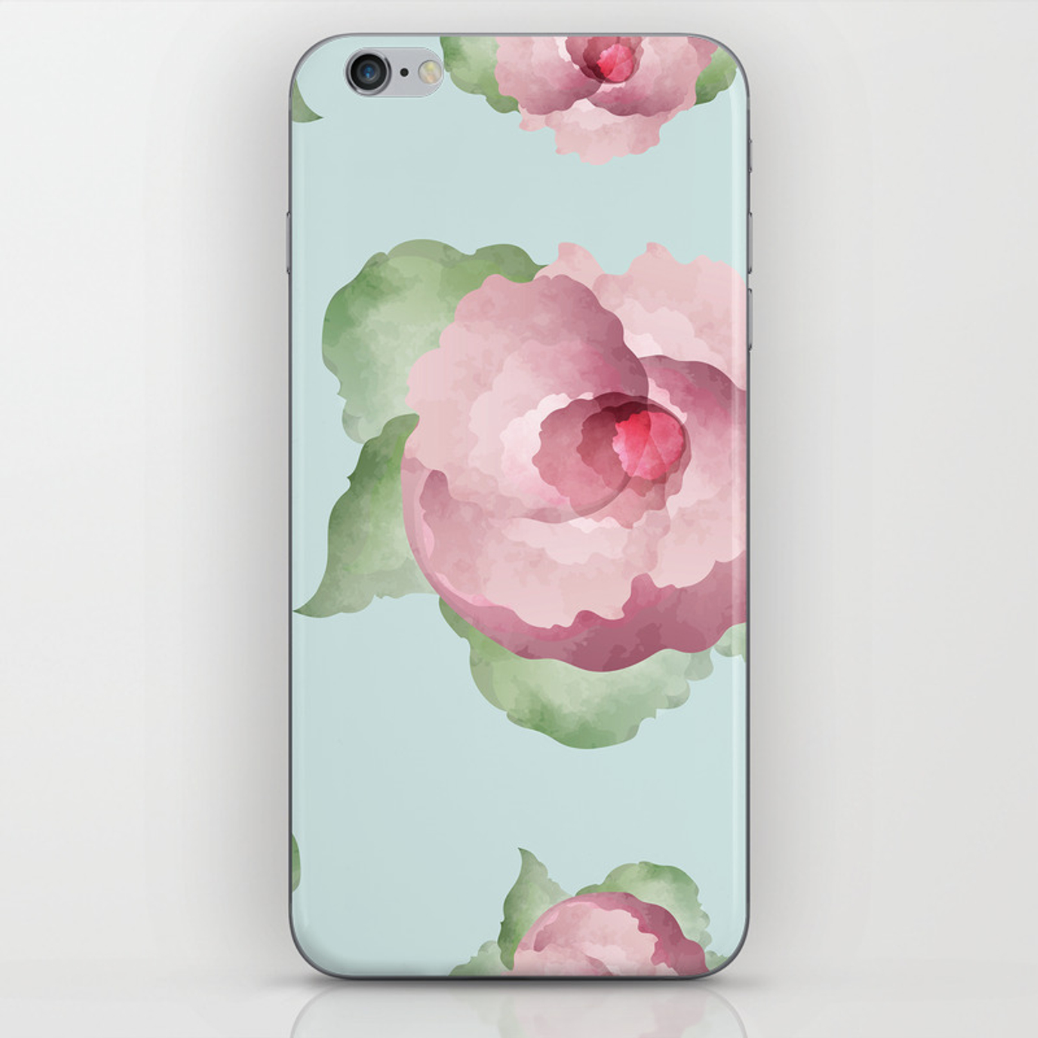 Watercolor Floral Background Iphone Skin By Olgaaltunina Society6
