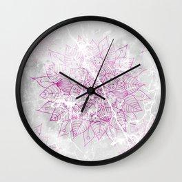 Modern abstract pink watercolor mandala marble pattern Wall Clock