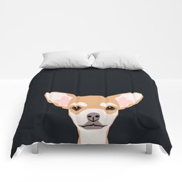 Misha - Chihuahua art print phone case gift for dog owner and dog people Comforters