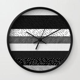 Pattern Mix Wall Clock