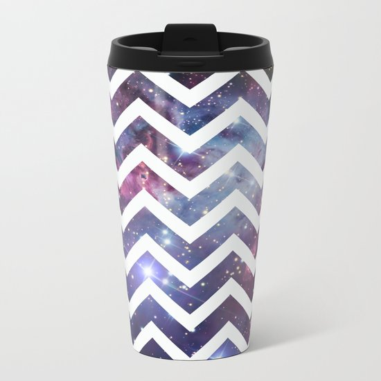 Nebula Chevron Metal Travel Mug