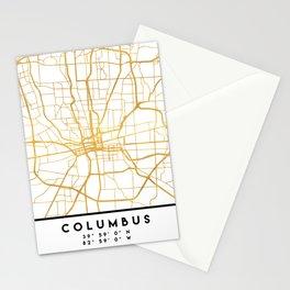 COLUMBUS OHIO CITY STREET MAP ART Stationery Cards