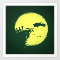 Zombie Invasion Art Print