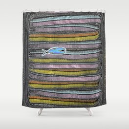 Not Whaling / Imperfect Lines Shower Curtain