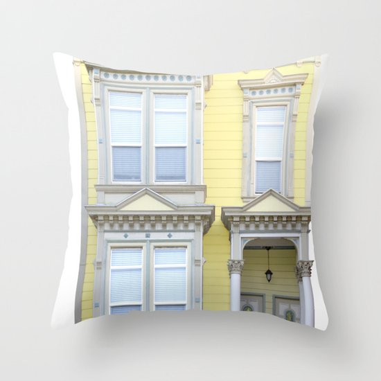 Yellow House San Francisco Throw Pillow