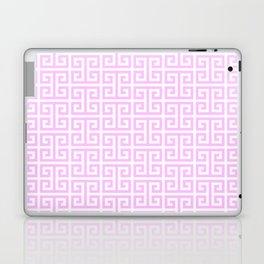 Pink and White Greek Key Pattern Laptop & iPad Skin