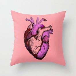 Valentine Anatomy Heart Throw Pillow