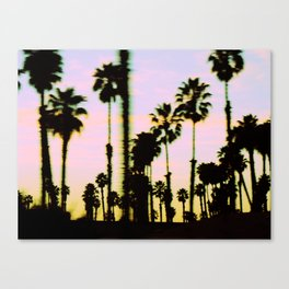 California Dreaming Palm Trees Sunset Canvas Print