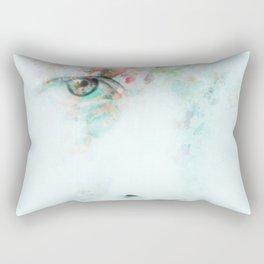 Silent Blue Rectangular Pillow