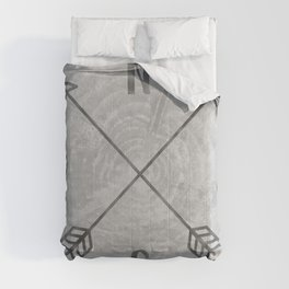 Compass Black and White Tree Comforters