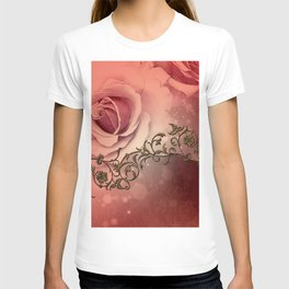 Wonderful roses and floral elements T-shirt