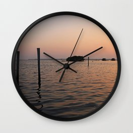 Live by the Currents Wall Clock