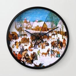 Pieter Bruegel - Massacre Of The Innocents - Digital Remastered Edition Wall Clock