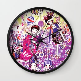 The case of purple spot sickness Wall Clock