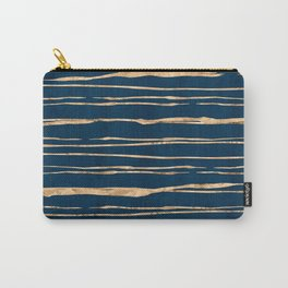 Messy Stripes on Prussian Blue Carry-All Pouch