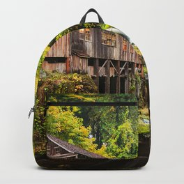 Image Nature USA Washington Cedar Creek Grist Mill, Woodland  Autumn Rivers river Backpack