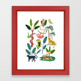 Jungle Creatures Framed Art Print