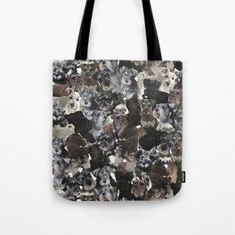 Schnauzer Collage Realistic Tote Bag