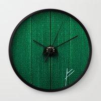 the hobbit Wall Clocks featuring The Hobbit by Janismarika