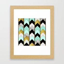 Chevron Lights Framed Art Print